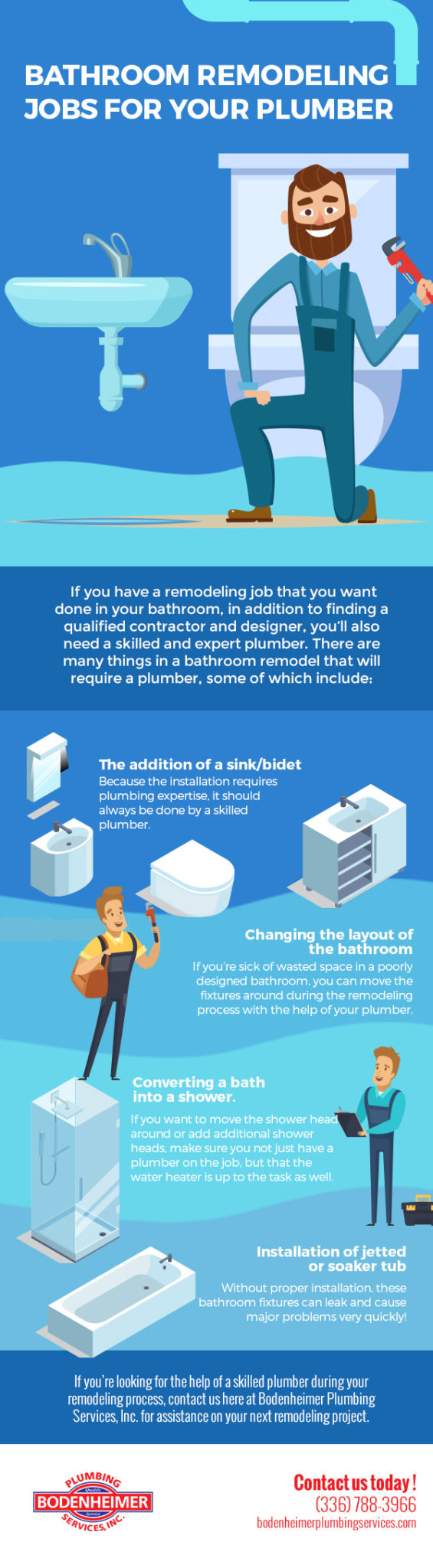 Bathroom Remodeling Jobs for Your Plumber Infographic