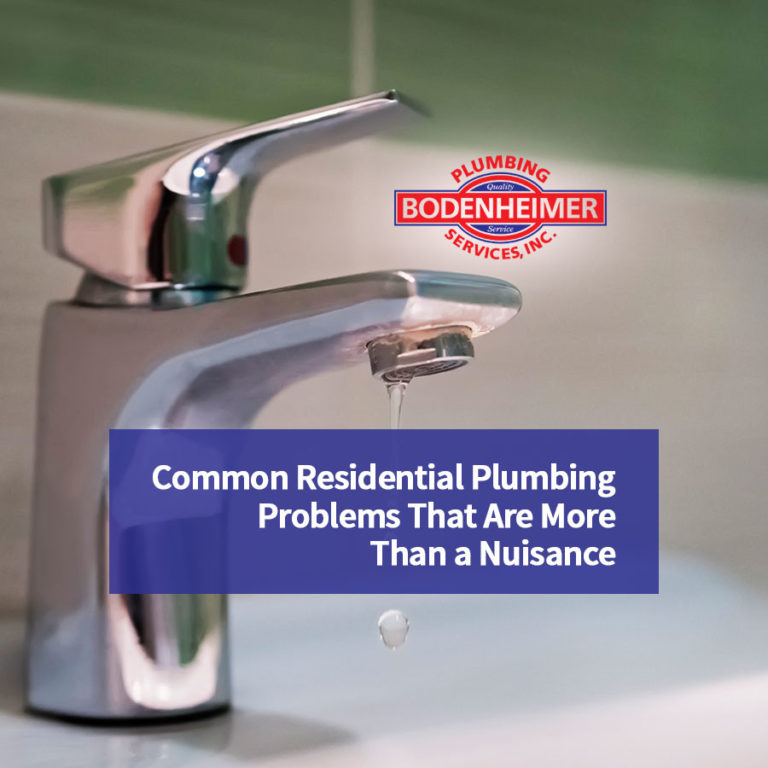 Common Residential Plumbing Problems That Are More Than a Nuisance